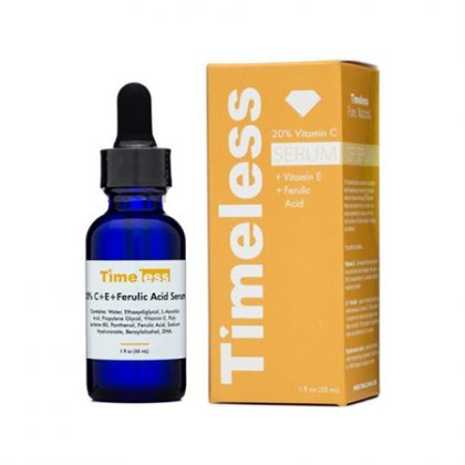 Tinh Chất Dưỡng Sáng Da Timeless 20% Vitamin C + Vitamin E + Ferulic Acid Serum (30ml)