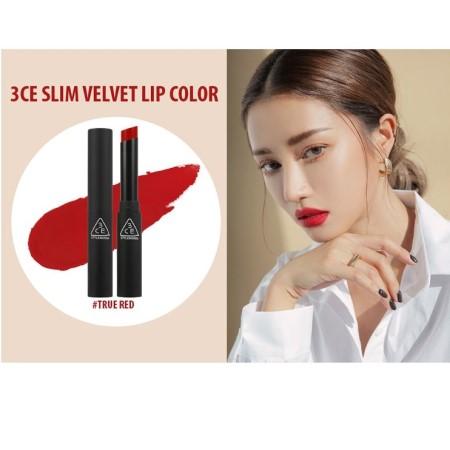 Son 3CE Slim Velvet Lip Color (3.2g) màu True Red