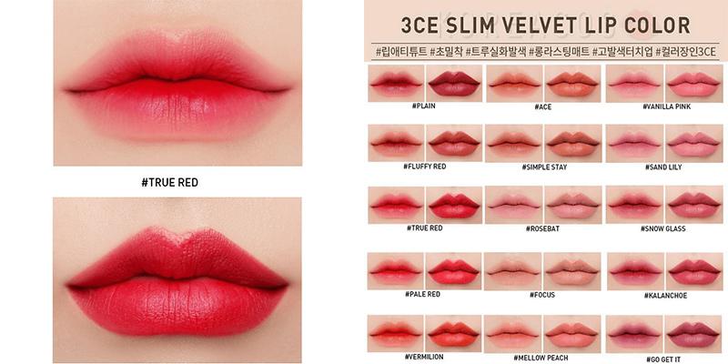 Son-3CE-Slim-Velvet-Lip-Color-(3.2g)-màu-True-Red