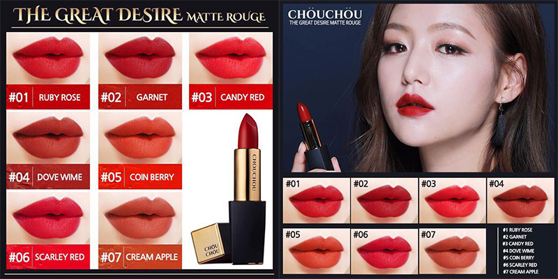 Son-Chouchou-The-Great-Desire-Matte-Rouge-màu-01-Ruby-Rose