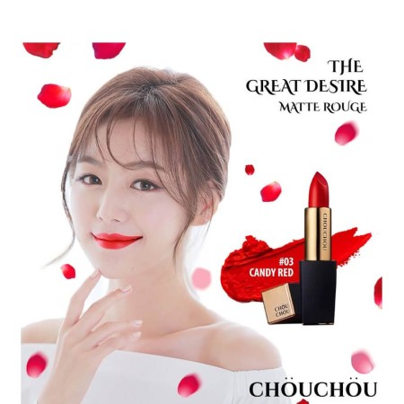 Son Chouchou The Great Desire Matte Rouge màu 03 Candy Red