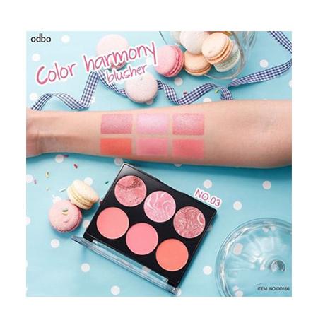 Phấn má hồng Odbo Color Harmony Blusher No.03