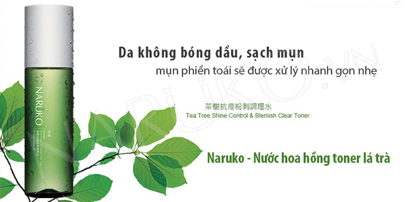 Nước Cân Bằng Da Naruko Tea Tree Shine Control & Blemish Clear Toner (150ml)