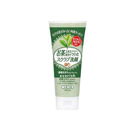Sữa Rửa Mặt Tẩy Tế Bào Chết Trà Xanh Utena Everish Facial Cleansing Scrub Wash (135g) Green Tea