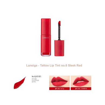 Son Laneige Tattoo Lip Tint Màu Sleek Red