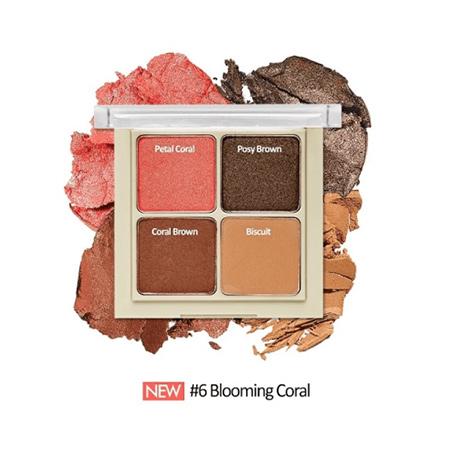 Bảng Phấn Mắt 4 Ô Etude House Blend For 4 Eyes Màu 6 Blooming Coral (8g)