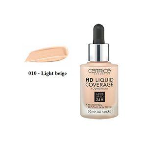 Kem Nền Catrice HD Liquid Coverage Foundation Màu Light Beige (30ml)