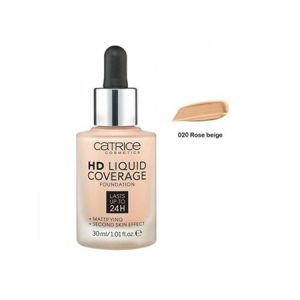 Kem Nền Catrice HD Liquid Coverage Foundation Màu Rose Beige (30ml)