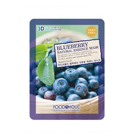Mặt Nạ 3D Blueberry Natural Essence Mask Foodaholic