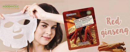Mặt-Nạ-3D-Hồng-Sâm-Red-Ginseng-Natural-Essence-Mask-Foodaholic-01