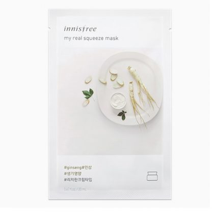 Mặt-Nạ-Chiết-Xuất-Nhân-Sâm-Innisfree-My-Real-Squeeze-Ginseng-Mask