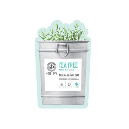 Mặt Nạ Shingmulnara Natural Delight Mask Tea Tree