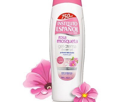 Sữa tắm chiết xuất cánh hoa hồng tươi INSTITUTO ESPANOL Rosa Mosqueta Shower Gel Cream 750ml